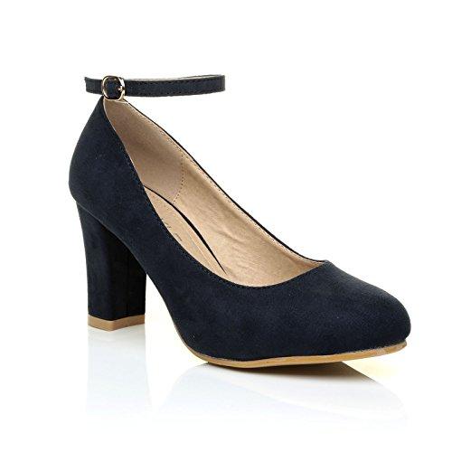 Blu Zara In Scamosciata E Con Cinturino Scuro Caviglia Alla Pelle qpUPdwp