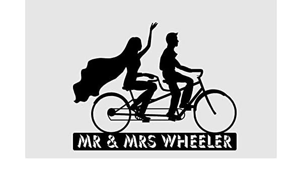 Decoración para tarta de boda en bicicleta para parejas, construida para dos. Personalizado con su nombre o frase. Forever and Always, Best Day Ever: Amazon.es: Hogar