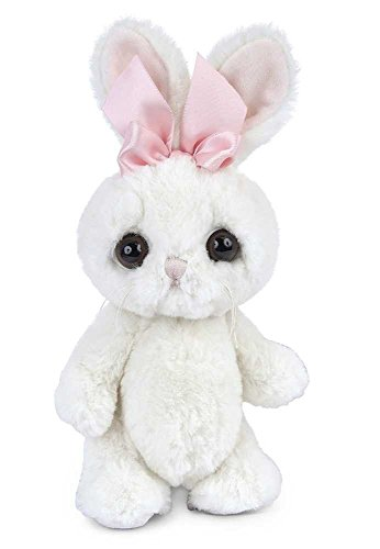 Bearington Big Head Bunni White Stuffed Animal Bunny Rabbit, 8""