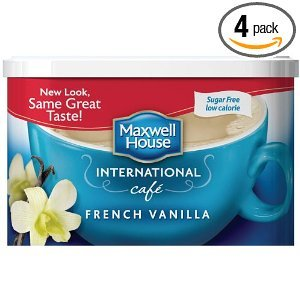 Maxwell International Cafe Cafe-Style Sugar Free French Vanilla Cafe Beverage Mix 4 OZ (Pack of 24) by MAXWELL HOUSE