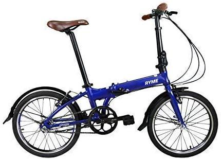 RYMEBIKES Bicicleta Plegable 20´´ Citizen Blue: Amazon.es ...