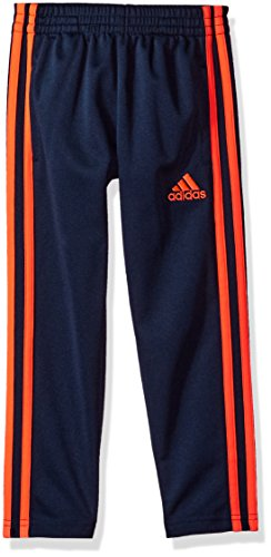 adidas Little Boys' Tricot Pant, Navy/Orange, 7X