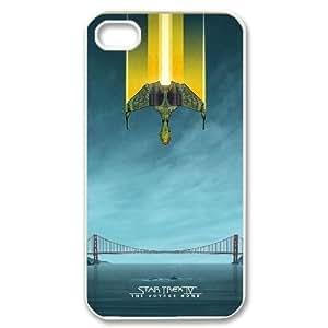 IPhone 4/4s Case Star Trek Movies Poster, Bloomingbluerose, {White}