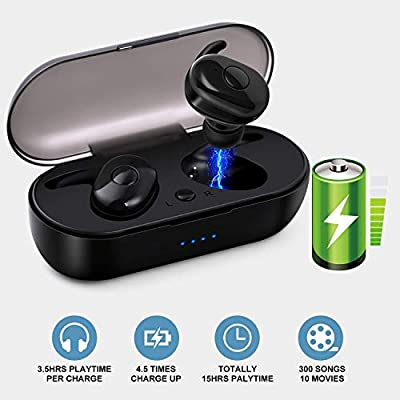 Wireless Earbuds HISILI Bluetooth 50 Wireless Headphones inEar SweatProof Stereo Wireless Earphones