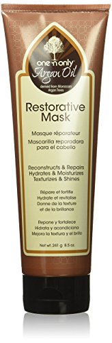 one 'n only Argan Oil Restorative Mask Derived from Moroccan Argan Trees, 8.5 Ounce (Best Restorative Hair Mask)