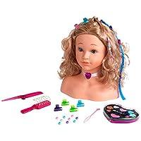 Theo Klein 5240 - Princess Coralie Hairstyling Head, Make-Up Head