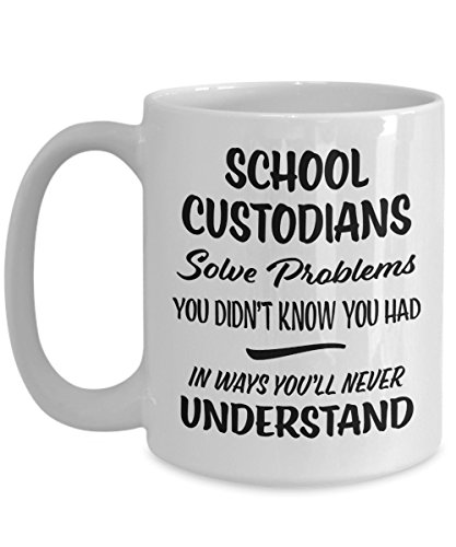 School Custodian Gift Mug - Funny Novelty Appreciation Coffee Cup