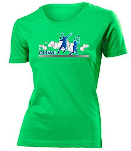 Sport - Volleyball Fan - Cooles Fun mujer camiseta Tamaño S to XXL varios colores Verde