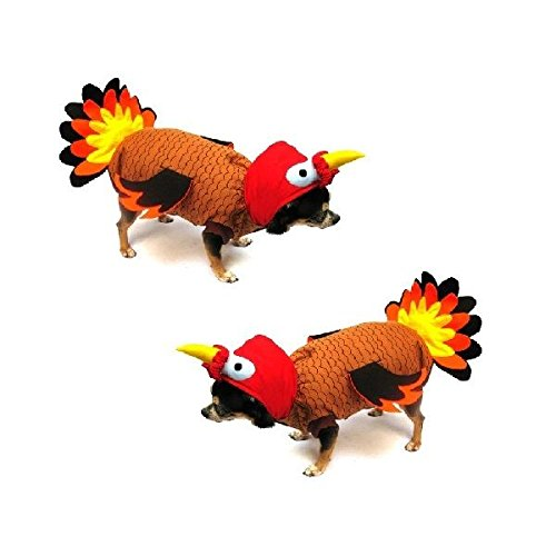 Fall Dog Costume TURKEY BIRD COSTUMES Dress Dogs For Thanksgiving (Size 1)