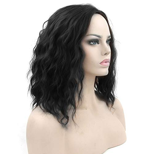12inches Short Wavy Black Blonde Cosplay Wigs Synthetic Hair Hair Pieces Party Hair Red Gray Wig for Women