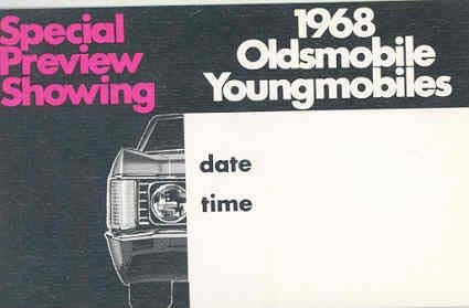 Amazon Com 1968 Oldsmobile Showroom Invitation Card Entertainment