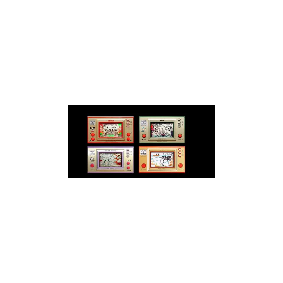 4 Refrigerator (Fridge) Magnets Nintendo Game and Watch Collection (4.7 Centimeters, 4.7x7.1)
