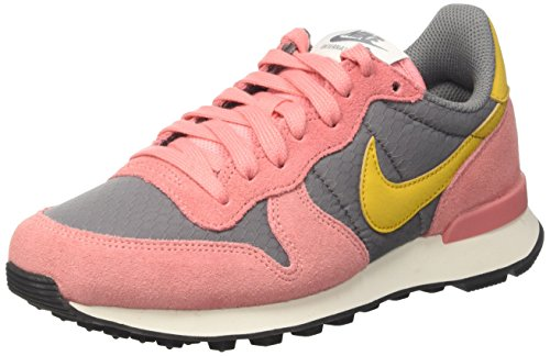 Nike Wmns Internationalist, Sandalias con Plataforma para Mujer Gris (Cool Grey/gold Dart/brt Melon/sail/black)