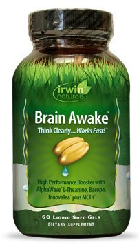 Irwin Naturals Brain Awake Diet Supplement, 60 Count