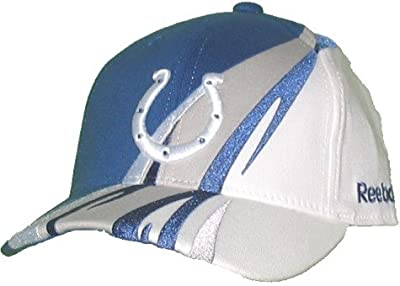 Indianapolis Colts Structured Adjustable Velcro Reebok Hat - Youth 4 - 7 Yrs from Reebok