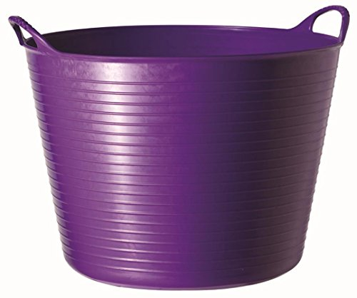 Tubtrugs 36L Large Flexible 2-Handled Recycled Tub, Purple