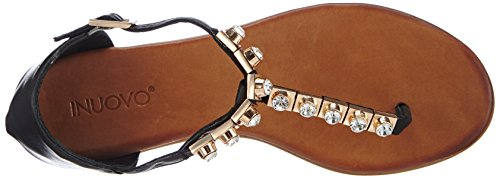 Inuovo BREEZE, Damen Sandalen Schwarz (Black Leather)