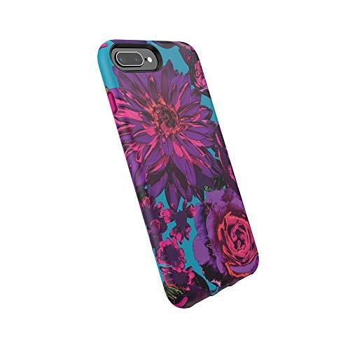 Speck Presidio Inked iPhone 8 Plus/iPhone 7 Plus/iPhone 6S Plus Case, Hyperbloom/Lipstick Pink