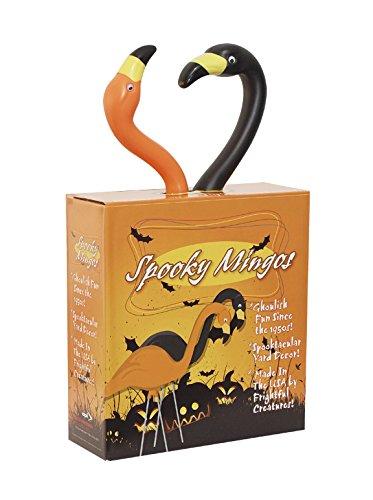 Bloem Spooky Flamingo Halloween Outdoor Lawn Statue 2-Pack (G8) ()