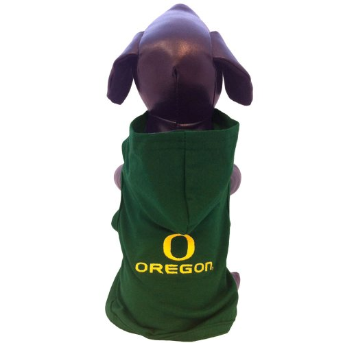 NCAA Oregon Ducks Cotton Lycra Hooded Dog Shirt, Small