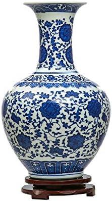 Jingdezhen Bleu et Blanc Porcelaine Vase, Vase Chinois Vase Antique en C ramique,Vase Art D co pour le M nage, Bureau, Mariage, F te