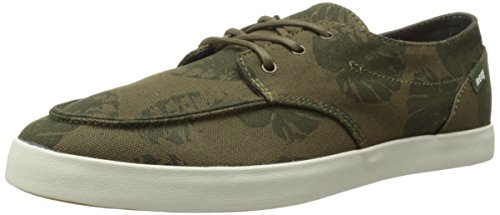 Reef Men's Deckhand 2 Prints Fashion Sneaker, Olive Palm, 11 M US by Reef