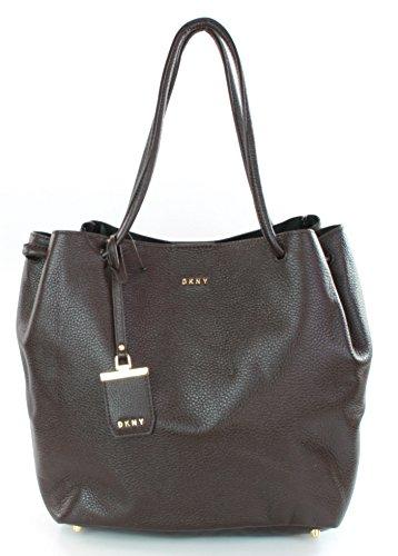 Donna Bag Bag Donna DKNY Dark Karan Leather Brown Karan Shoulder DKNY Leather Shoulder Dark xCXqaS6