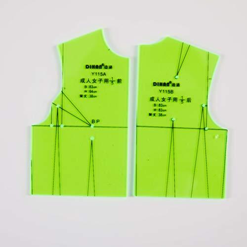 DIHAN #Y100 Women's Upper Garment Prototype Template and Sleeve Prototype Pattern Making Pattern Drafting Basic Prototype Garment Basic Template Garment Basic Pattern Fashion Design (Y115G(1:5))