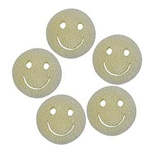 fancyU Smiley Face Loofah Sponge 5PCS Limpiadores De Esponjas para ...