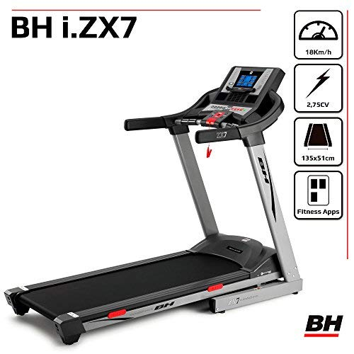 BH Fitness i.Zx7 G6473iRF cinta de correr motivacional - 18Km/h ...