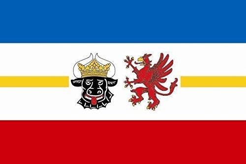 U24 Motorradflagge Mecklenburg-Vorpommern Fahne Flagge 20 x 30 cm
