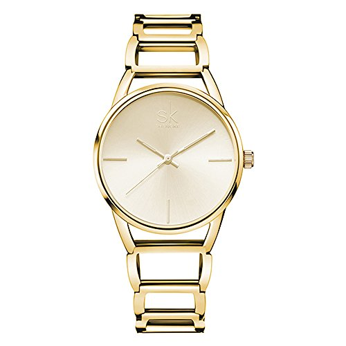 SK Watches for Women on Sale with Stainless Steel Strap Wrist Watch for Women Dress Analog