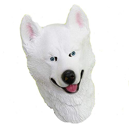(Rwdacfs Halloween mask,Police Dog Wolf Head Halloween Performance Cosplay Carnival Party Whole Tricky)