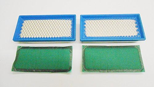 2 Pack Air Filters Plus Pre-Filters For Briggs & Stratton Air Filter 494511, 494511S, Pre-Filter 492889, 492889S (Air Stratton Cleaner)