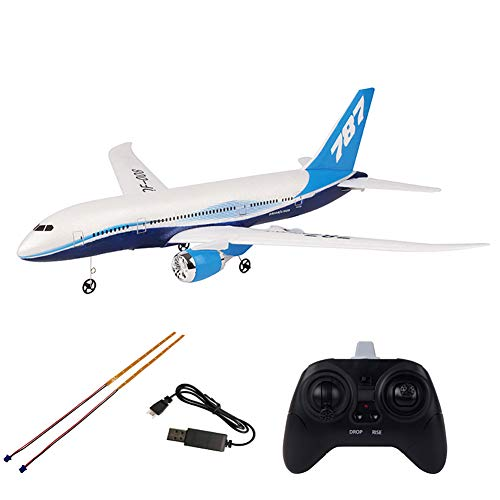 Electric Airplane Toy Kids Toy Plane Airbus with Flashing Lights Realistic Aircraft Toy Airplanes for 3+ Years (White with Light)