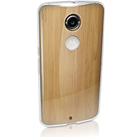 iGadgitz Transparent Clear Glossy TPU Gel Skin Case Cover for Motorola Moto X 2nd Generation 2014 XT1092 + Screen (Motorola X Clear Cover)