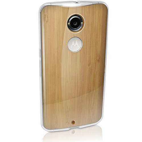 iGadgitz Transparent Clear Glossy TPU Gel Skin Case Cover for Motorola Moto X 2nd Generation 2014 XT1092 + Screen Protector