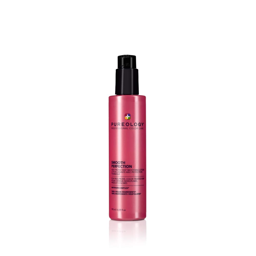 Pureology Smooth Perfection Lightweight Anti-Frizz Smoothing Lotion | Heat Styling Protection | Vegan