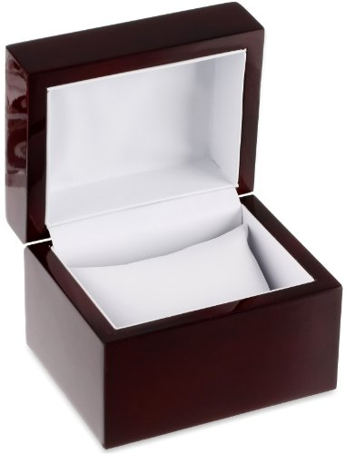 - Diplomat 32-16714 Cherry Wood Leather Box Watch Case