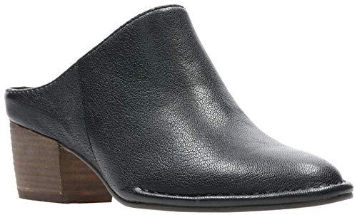 b6ff0b336def27 CLARKS Womens Spiced Isla Mule, Black Leather, Size 7.5