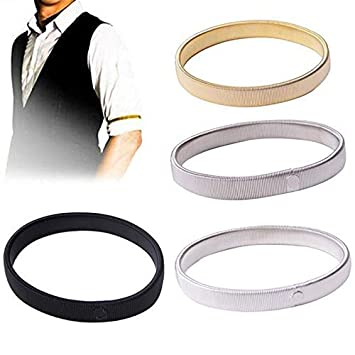 The Best 1pc Men Shirt Sleeve Holder Casual Elastic Armband Anti-slip Metal Armband Stretch Garter Wedding Elasticate Armband Accessories Men's Accessories