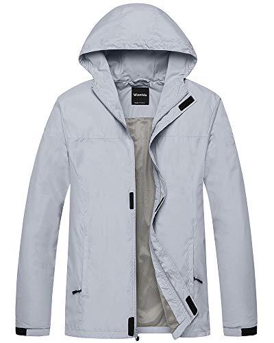 Wantdo Men's Lightweight Windbreaker Packable Hooded Jacket