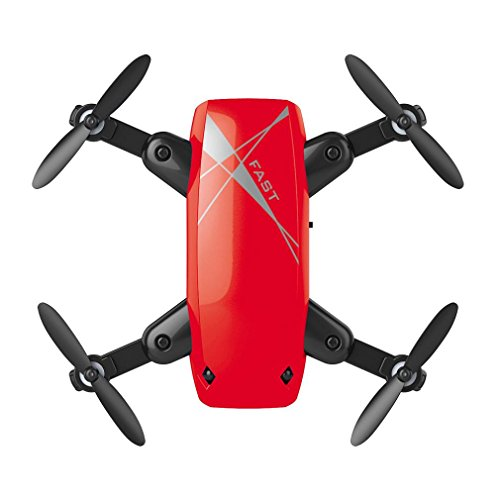 Cheap Fineser S9 Mini Foldable RC Drone 2.4GHz 6-Axis Gyro Quadcopter With Attractive Headless Mode and With One Key Automatic Return Function (Red)