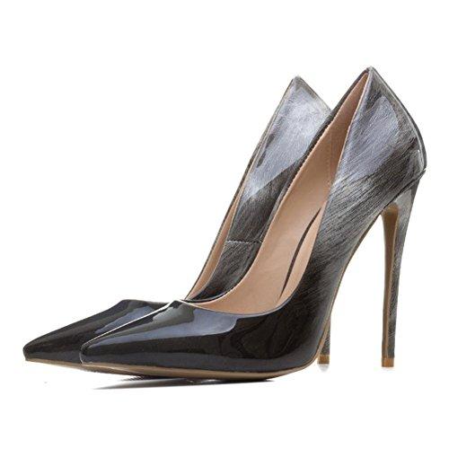 BLACK Tribunal Robe Taille Haute Doigt Fermé NVXIE Chaussures Pied Pente Stylet Fête Travail Femmes EUR38UK55 Pointu Intelligent de Talons Pompes fnTS6qUSWZ