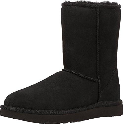 UGG Australia Women's Classic Short II Sheepskin Winter Boots Black Size 7 (Classic Short Ugg Boots Black)