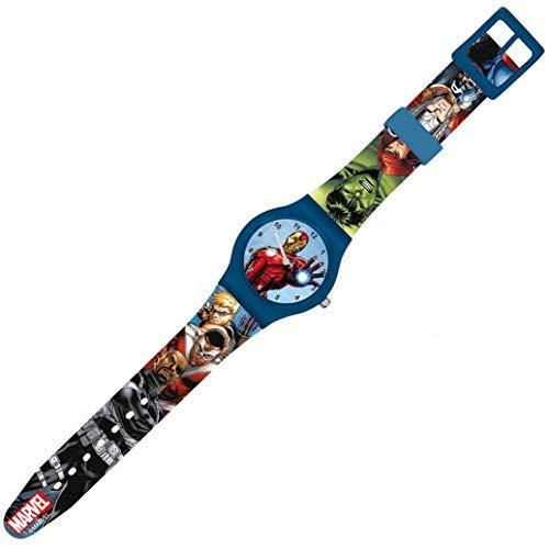 Movilcom® - Reloj niño analógico de Pulsera Marvel Avengers | Pack Reloj Vengadores niño con Caja de Regalo | Esfera Ironman