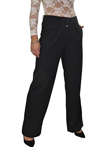 neri di larga gamba 1272 Soft Smart città pantaloni RSxqwA