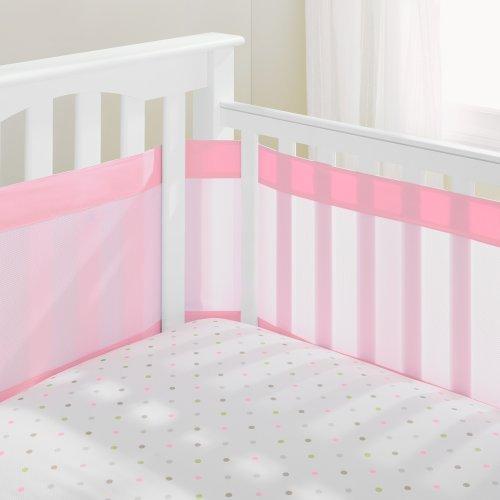 AirFlowBaby 14 Mesh Crib Liner, Pink Mist, Pink by AirFlowBaby