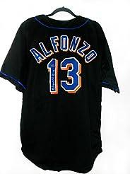 buy popular 5e046 058e5 Edgardo Alfonzo Signed New York Mets Custom Stitched MLB ...