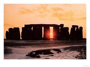 Stonehenge, Winter Solstice Giclee Print art (12 x 9 in)